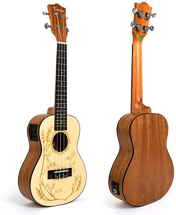Kmise 23-inch Electric-Acoustic Hawaiian Ukulele