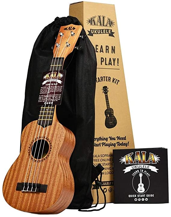Official Kala Learn to Play Ukulele Soprano Starter Kit (LTP-S)
