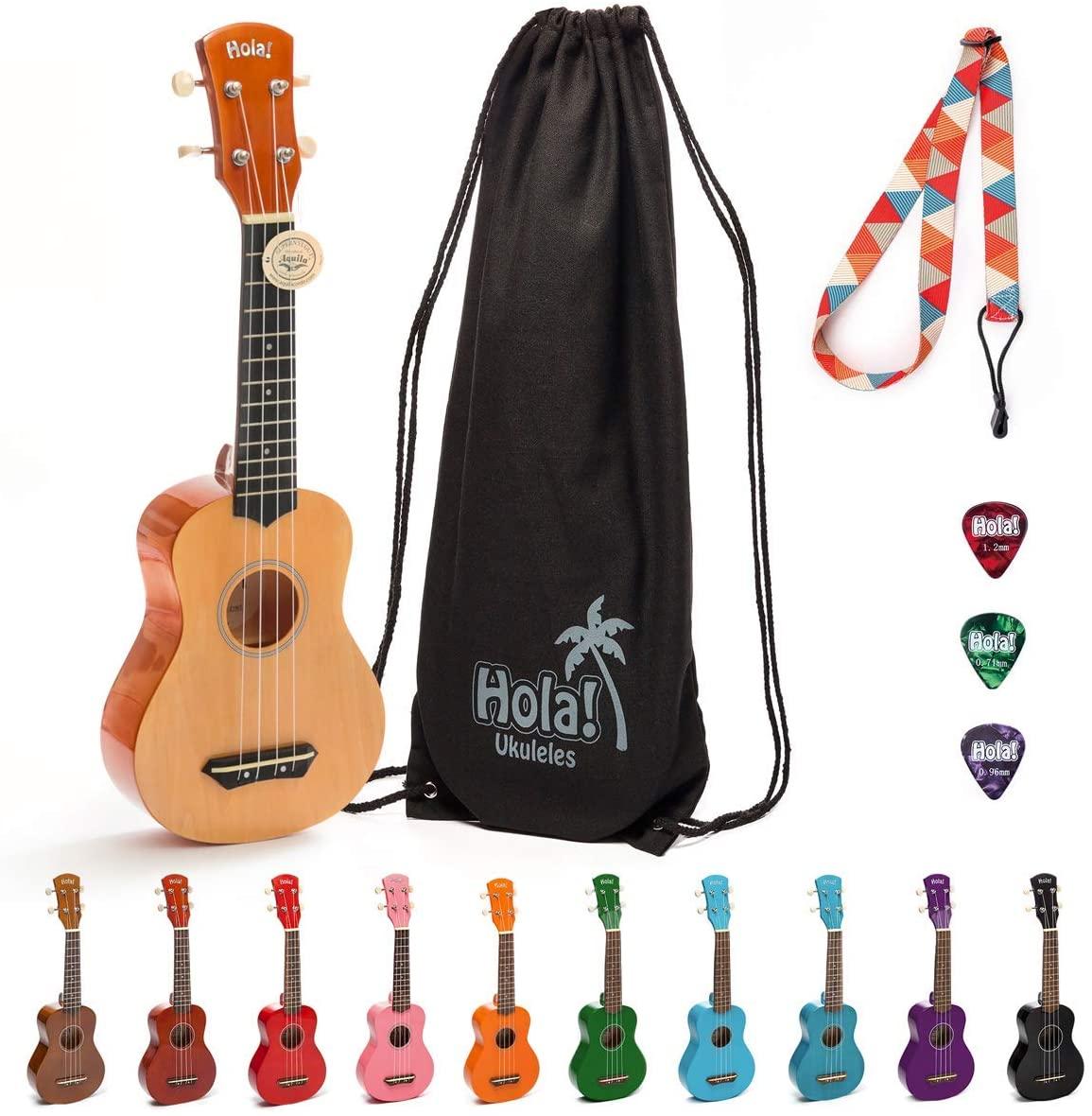 Hola! Music HM-21NT Soprano Ukulele Bundle