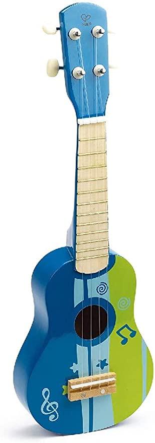 Hape Kid's Wooden Toy Ukulele (Colorful Pick)