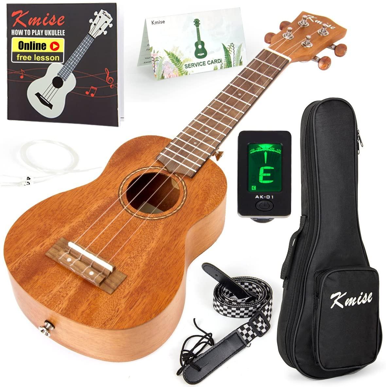 Kmise Soprano Professional Ukulele Kit for Beginners