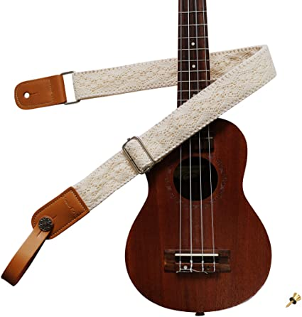 Music First's Ukulele Strap with Vintage Lace