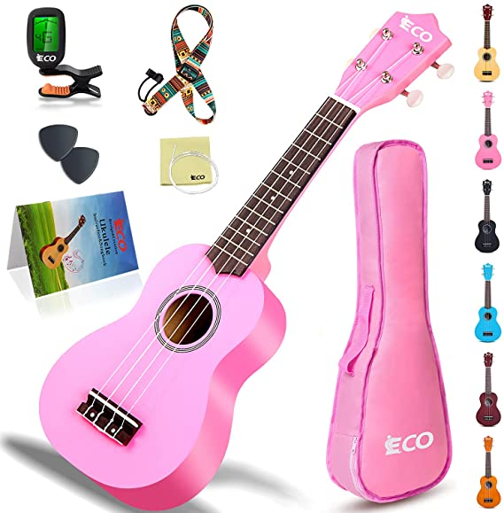 iECO Soprano Ukulele Beginner Kit for Kids & Adults