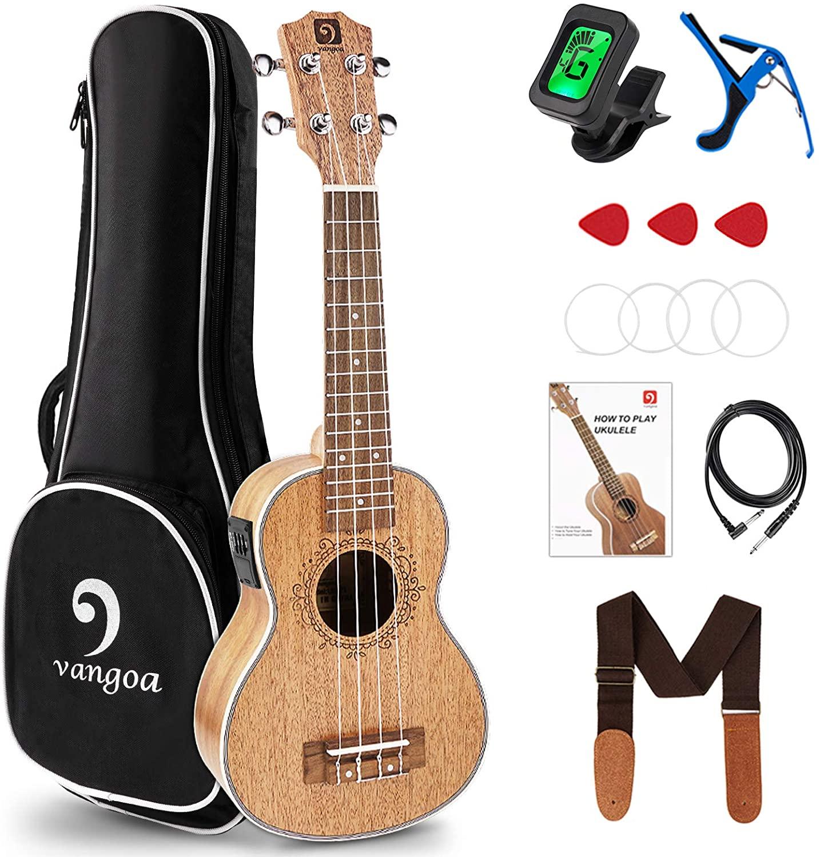 Vangoa Soprano Acoustic-electric Ukulele (Beginner's Kit)