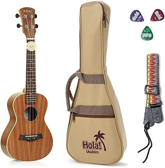 Hola Left-handed Concert Ukulele with Padded Gig Bag